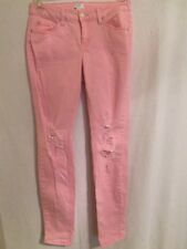 Crown & Ivy Pink Pre-ripped Stretch Jeans, Size 6, Excellent Used Condition