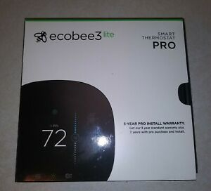 Ecobee 3 Lite EB-STATE3LTP-02 Smart Thermostat - WiFi - Energy Star - Black
