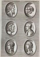 Numismatik Demetrius Herkules Horaz Hylas Hesiodus Antike Rom Greece 1690