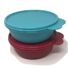 Tupperware wonder bowls set of 2 -  BLUE AND RED GLITTER  - 600ml New