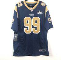 Nike Super Bowl LIII 53 Los Angeles Rams Aaron Donald Jersey Navy Blue Men's L