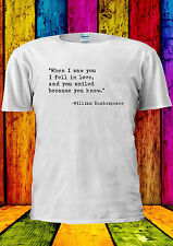 Valentine's Day William Shakespeare T-shirt Vest Tank Top Men Women Unisex 2312