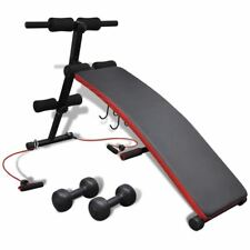 Adjustable Decline Sit up Bench w/ Dumbbell Crunch Board Durable Fitness Workout