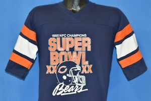 vintage 80s CHICAGO BEARS SUPER BOWL 1985 XX JERSEY STYLE t-shirt FOOTBALL M