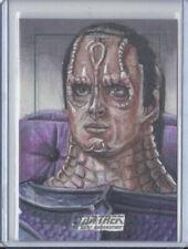 Star Trek TNG Original Sketch Card of Cardassian Alien by Adam & Bekah Cleveland