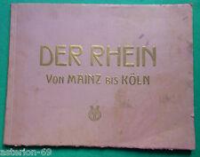 ALLEMAGNE DER RHEIN VON MAINZ BIS KOLN 24 PHOTOS  CA 1910 KARL RUD BREMER