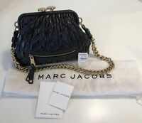 Marc Jacobs Black Little Stam Leather Quilted Bag EUC