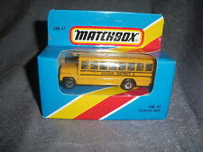 289B Vintage Matchbox 1981 MB 47 Autobus Scolaire Bus School District 2 USA 1:76