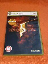 Resident Evil 5 (Microsoft Xbox 360, 2009) Avec Manuel