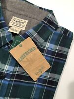 NEW L.L. Bean Lakewashed Button-down Green Plaid Men's Shirt XL Slightly Fitted