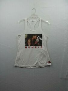 Under Armour Heat Gear Womens Muhammad Ali White Tank Top Size S/P, Ex Cond!