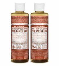 Dr Bronner`S Bio De Eucalyptus Castille Savon Liquide 237ml - Végétalien (Lot 2)