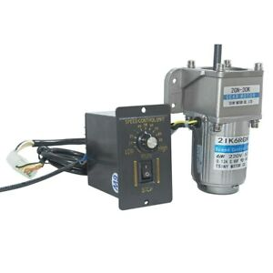 High Torque Electric 6W AC 220V Geared Reducer Motor Speed Controller 2GN
