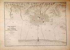 PERÚ,plano topográfico de la ciudad de Puno.Paz Soldán.Geografía del Perú 1865.