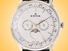 EDOX Les Vauberts Calendar Stainless Steel Men's Watch Model: 40101 3C AIN