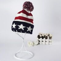 usa flag american beanie hat wool winter warm knitted for men and women