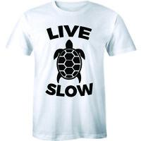 Live Slow Turtle Funny Animal Love Tortoise Shirt Men's T-shirt Gift Tee