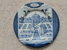 """DELFT HOLLAND METROPOLITAN MUSEUM OF ART MONTH OF THE YEAR April PLATE 9"""" MMA"""