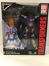 Transformers Titans Return Galvatron & Nucleon Voyager Class New Sealed