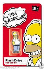 Clé USB 2 Officiel  Homer  Simpsons 8 GB  Rouge/Jaune  Neuf