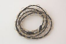 """Wrap Bracelet/Necklace Dark Brown Genuine Leather Gold Filled Circle Chain 28"""""""