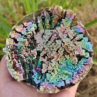 Top! Rainbow Bismuth Ore geode Quartz Crystal Mineral Specimen Healing 550g+ 1PC