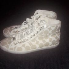 Womens Coach High Top Tennis Shoes- Size 8