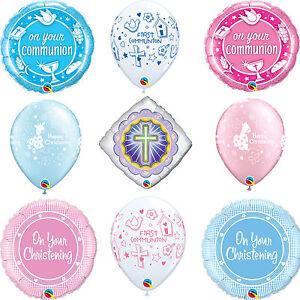 Christening & Communion Qualatex Latex & Foil Religious Party Balloons Helium
