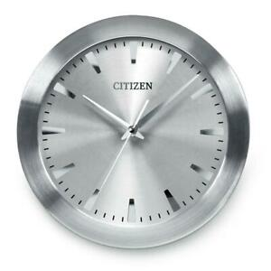 Citizen CC2003 Gallery Wall Clock, Silver-Tone