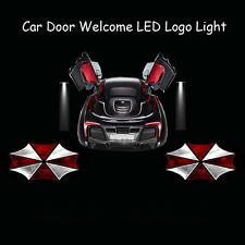 2x 3D Resident Evil Umbrella Logo Car Door Laser Projector Shadow CREE LED Light