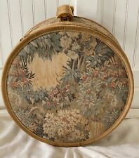 FRENCH COMPANY VINTAGE TAPESTRY SUEDE ROSE FLORAL HAT BOX