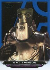Star Wars Galactic Files Reborn Blue Parallel Base Card AOTC-20 Wat Tambor