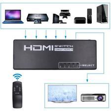 6-Port (5 x Entrées à 1 x Sortie) HDMI Switch Sélecteur avec IR télécommande