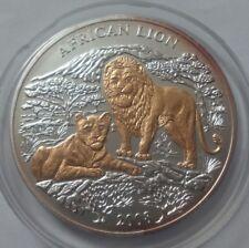 Rwanda 1000 francs 2008 African Lions Gold Silver 3oz + diamonds    №2