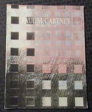 1989 The Paul McCartney World Tour Program Vg+ 4.5 Wings / Beatles
