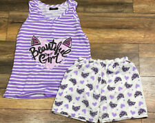 Victoria 2 Piece Short sleeve Juniors Pajama Set Size Large Beautiful Girl