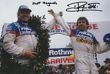 Jean Ragnotti foto firmada de mano 12x8 Renault Rally 14.