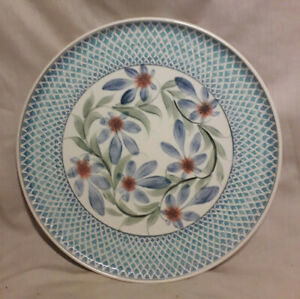 Vintage Redhouse Studio Pottery Plate, 27cm  Hand Decorated