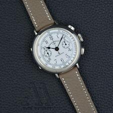 EBERHARD & CO Chronographe CAL 14 925 SILVER 31008 38mm vintage Handwound 80s