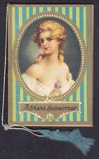 CALENDARIETTO 1950 ADRIANA LECOUVREUR OPERA LIRICA con BUSTINA pocket calendar