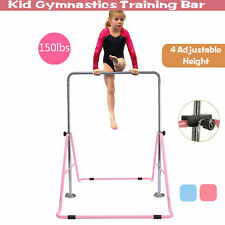Home Kids Use Gymnastics Horizontal Bar Training Bars Expandable Folding Kip