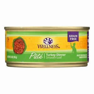 Wellness Pet Products Cat Food - Turkey Recipe - Case Of 24 - 5.5 Oz.