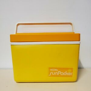 Vintage Thermos Sunpacker 11 Quart Cooler Yellow Orange White Model 7713 Retro
