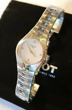 Tissot T- T0960091111600-Round White Diamond Dial Stainless Steel Ladies Watch