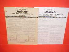1939 MOTOROLA AUTO CAR RADIO SERVICE SHOP REPAIR MANUAL BROCHURE MODEL 9-69