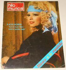 HILO MUSICAL Mayo 1976 Rosa Morena Nuria Feliu Las Nayades revista