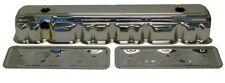 Chevy Chrome Steel Straight 6 Valve Cover Side Plate 194 230 250  Chevrolet set