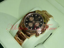 Rolex Cosmograph Daytona Everose Gold 40mm Rose Gold Bracelet Black Dial 116505