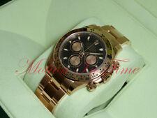 Rolex Cosmograph Daytona Everose Gold 40mm Rose Gold Bracelet Black Dial 116505