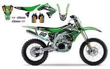 Kit déco Complet + Housse selle Réplica Kawasaki TEAM MX1 KX 125 250 2003-2008